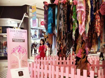Campanha de arrecadação de lenços no Central Plaza Shop